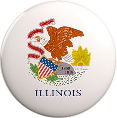 State Vote Button from Illinois