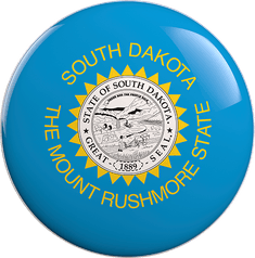 State Vote Button from South Dakota