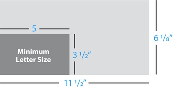 usps defines a letter by the following dimensions