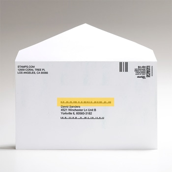 Envelope with Intelligent Mail Barcode